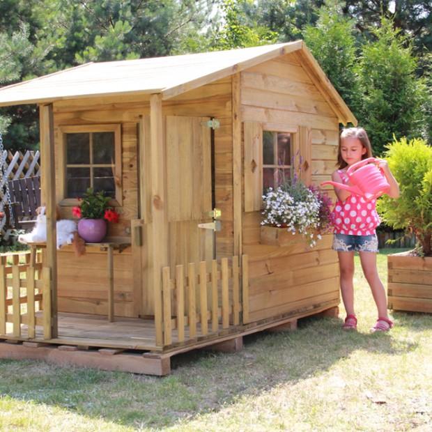 Wiosna w ogrodzie – zobacz drewniane domki dla dzieci