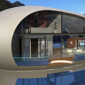Łódź, pływający dom czy dom na plaży w kształcie jaja? Produkcję takich konstrukcji zaplanowała niedawno BMTAsia Pacifc Group, spółka zależna od BMT Group. Fot. BMT Asia Pacifc Group/Henry Ward Design