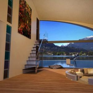 Futurystyczne houseboaty mogą być wykonane z wysokiej jakości tworzyw sztucznych i szkła, a w środku urządzone wręcz luksusowo. Fot. BMT Asia Pacifc Group/Henry Ward Design