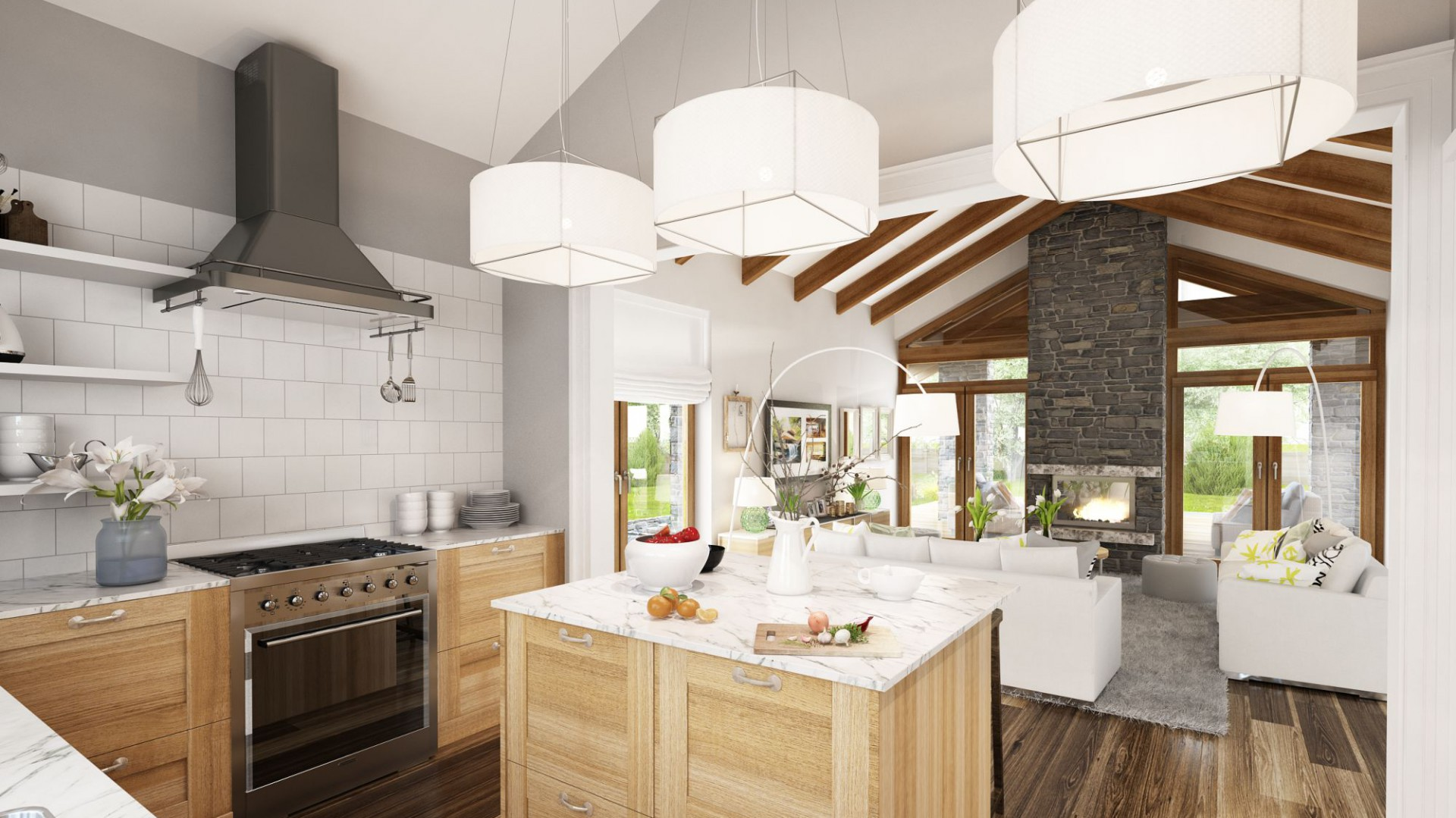 W Mega Parterowy dom: idealny projekt dla rodziny CA87