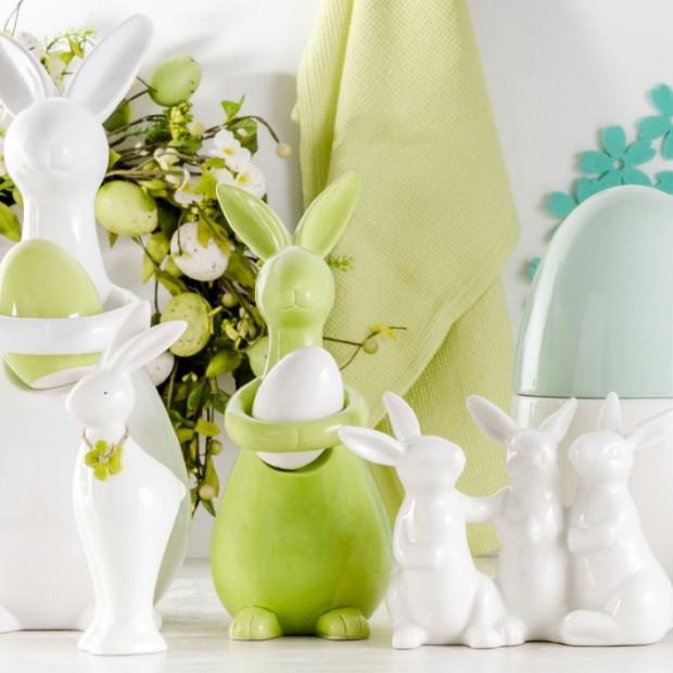 Wielkanocne symbole: baranek, zajączek i kurczak