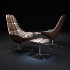Fotel obrotowy Boston – projekt dla marki BoConcept. Fot. BoConcept