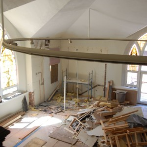 Tak wyglądało wnętrze kościoła przed modernizacją. Projekt: Linc Thelen Design. Fot. Jim Tschetter
