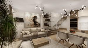 Dom w zabudowie szeregowej znajdujący się w Białymstoku. Wnętrze urządzone w stylu nowoczesnym, w przytulnej, ciepłej kolorystyce.