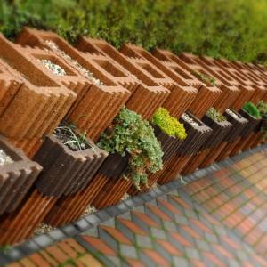 Ogród wykreowany za pomocą gazonów. Fot. Polbruk
