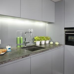 Strefa zmywania w kuchni: Projekt: Monika i Adam Bronikowscy. Fot. Bartosz Jarosz