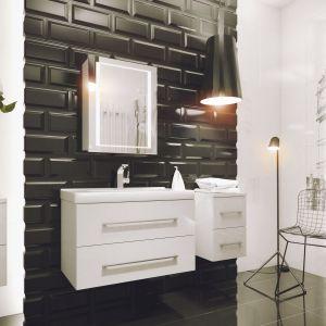 Białe meble do łazienki: kolekcja Alta. Fot. Defta