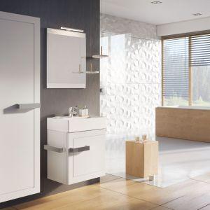 Białe meble do łazienki: kolekcja Qubic. Fot. Elita