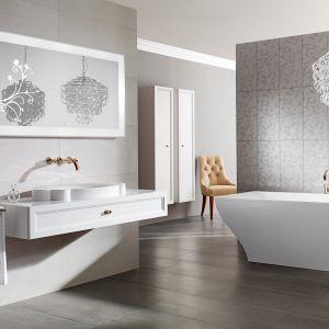 Białe meble do łazienki: kolekcja La Belle. Fot. Villeroy&Boch