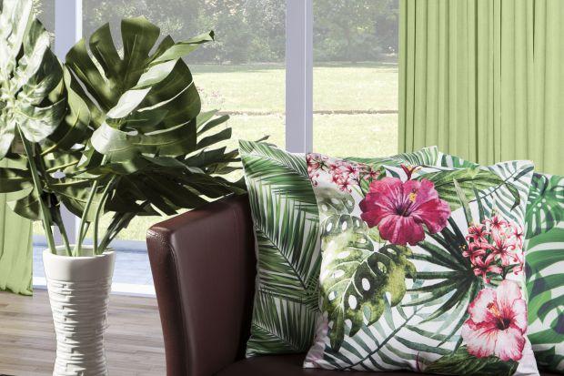 Trend botaniczny w salonie - egzotyczne liście są na topie!