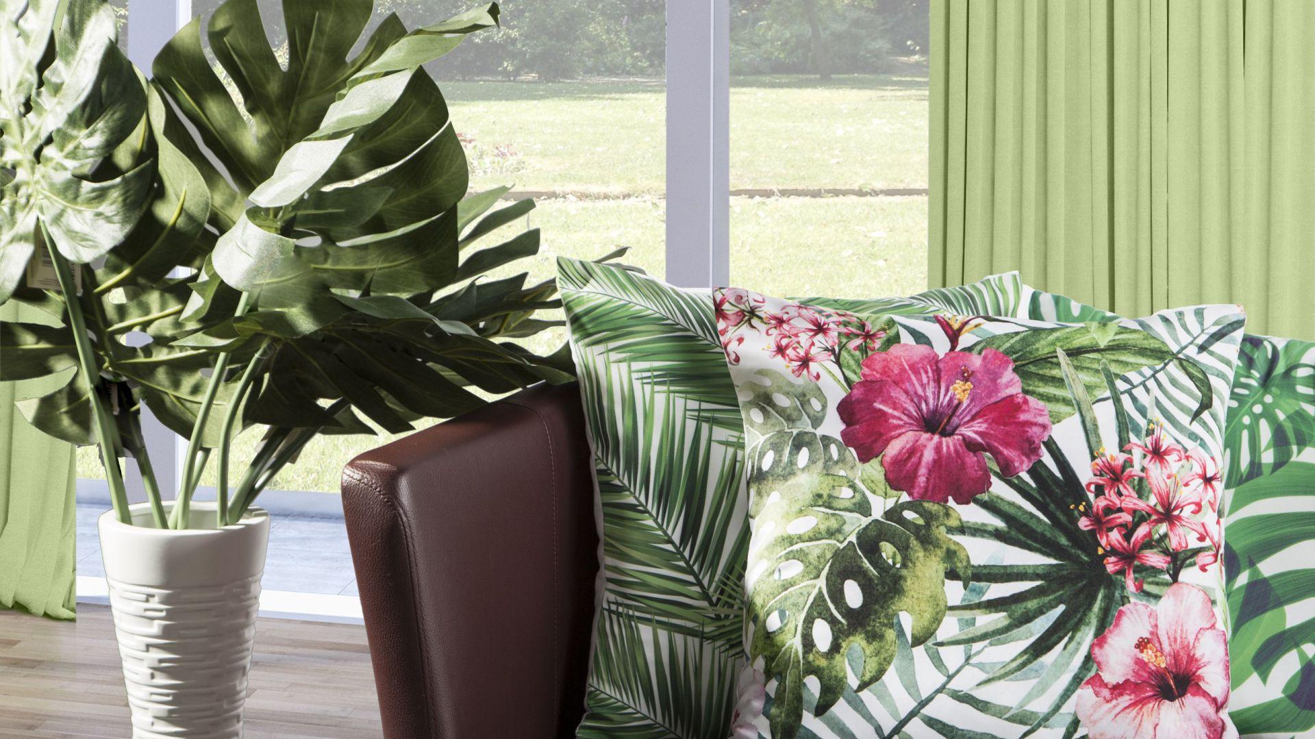 Trend botaniczny: egzotyczne liście są na topie. Fot. Eurofirany