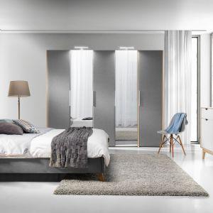 Meble do sypialni. Szafa Solle i łóżko Glame. Fot. Wajnert Meble