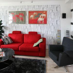 Kolor w salonie. Projekt: Marta Kruk. Fot. Bartosz Jarosz