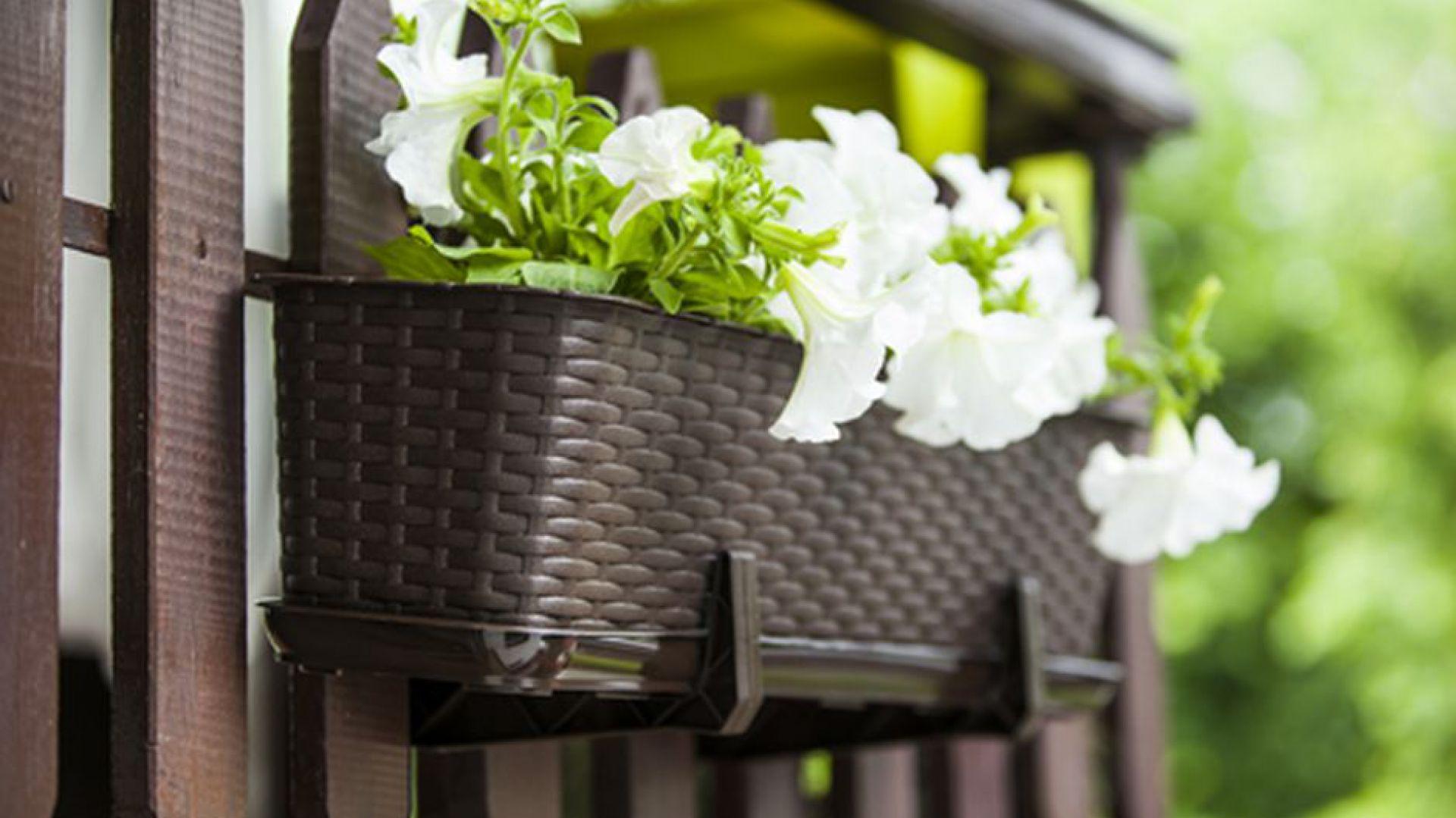 Doniczka balkonowa RATTAN. Fot. Galicja dla Twojego Domu
