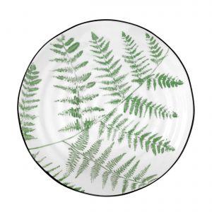 Porcelanowy półmisek z serii DŻUNGLA ozdobiony wzorem liścia paproci. 67,08 zł. Fot. HK Living