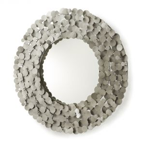 Metalowa rama lustro WENDA sprawia wrażenie bardzo delikatnej i finezyjnej. Fot. La forma