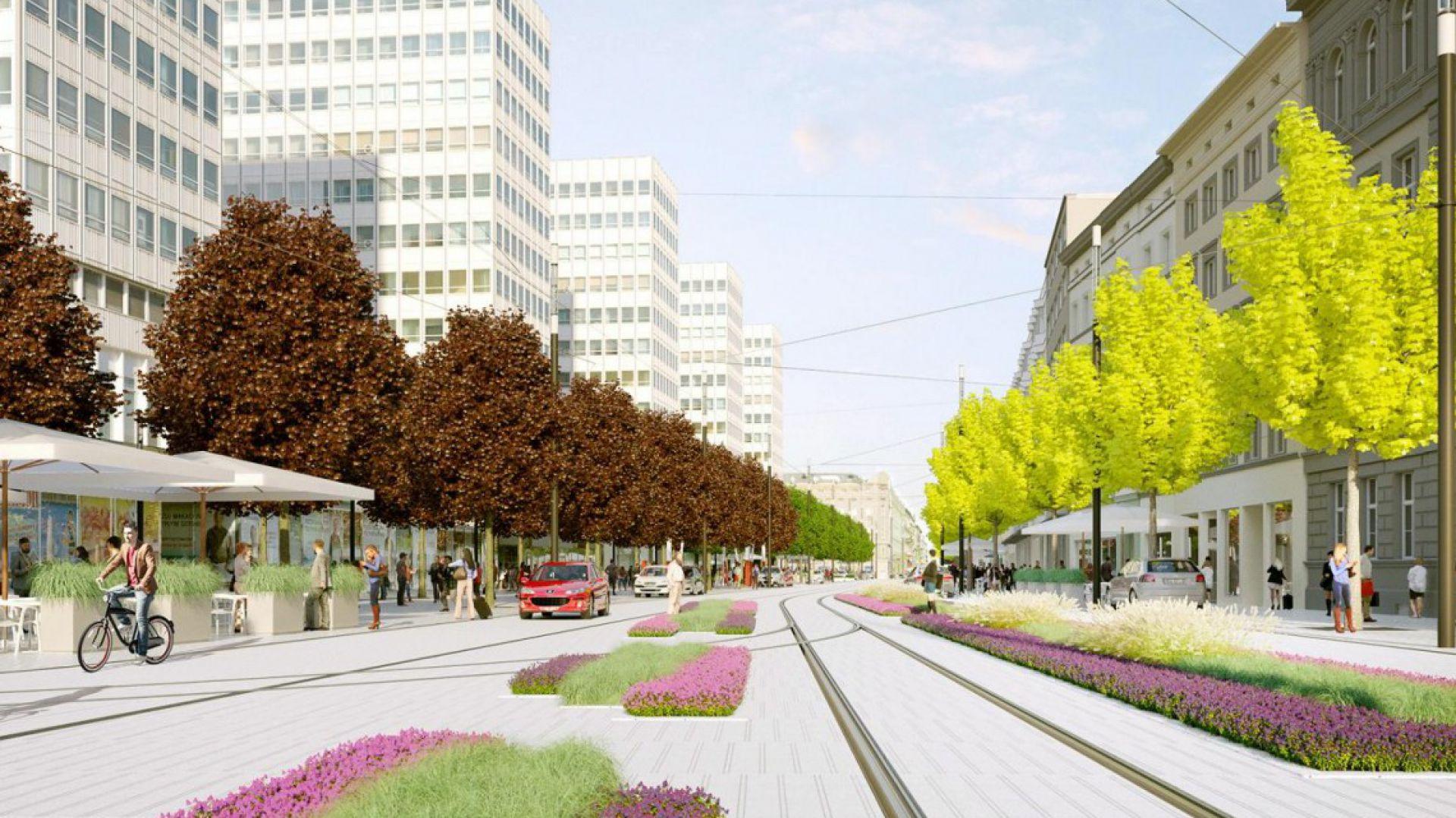 Tak będzie wyglądała ul św Marcin fot. UM Poznań, projekt Studio ADS