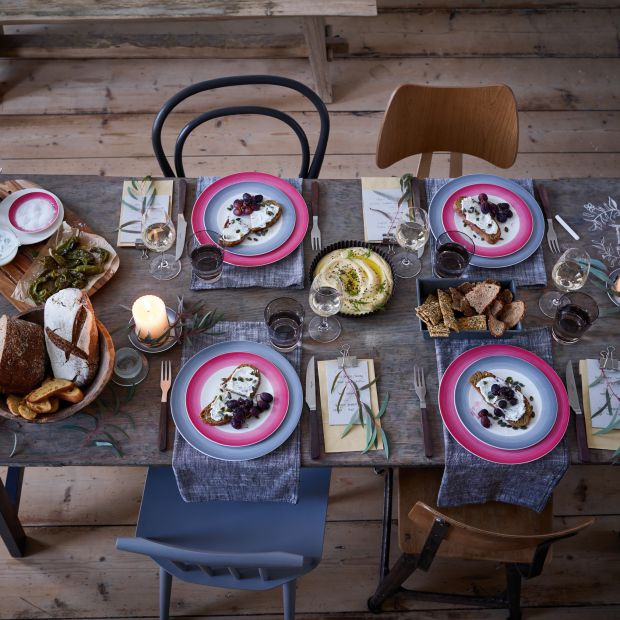 Piękna porcelana - zaproś kolory do jadalni
