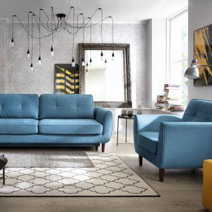 Meble wypoczynkowe OLAND w modnym niebieskim kolorze. Fot. Wajnert Meble