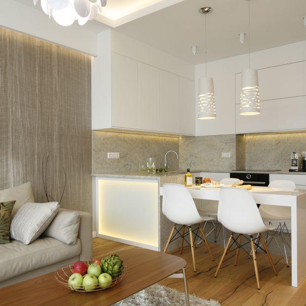 Kuchnia otwarta na salon - 12 dobrych projektów