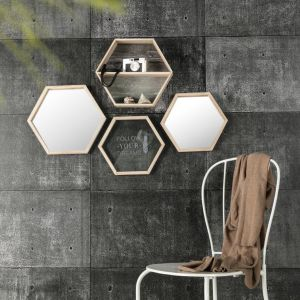Lustro wiszące Hexagon. Fot. Dekoria.pl