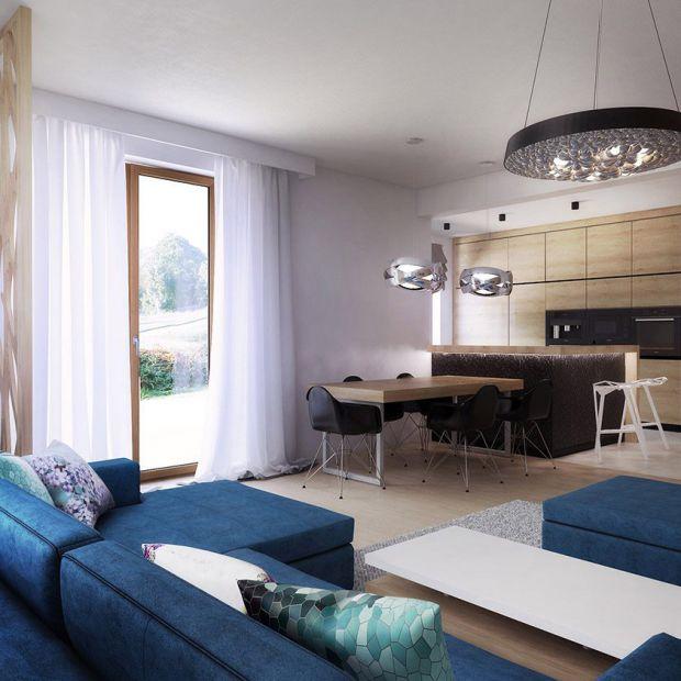 Nowoczesny dom: projekt wnętrza w naturalnych kolorach
