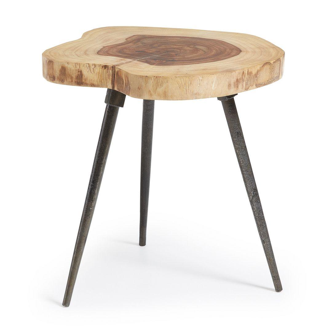Stolik kawowy CRAFT w kształcie pnia drzewa z metalowymi nóżkami. Fot. La Forma / Lepukka.pl
