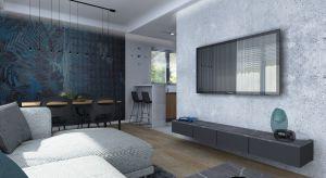 Nowoczesny projekt apartamentu, w którym króluje kamień i beton.