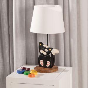 Meble i zabawki dla dziecka. Lampka stojąca Animals Cat. Fot. Dekoria.pl
