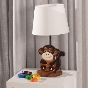 Meble i zabawki dla dziecka. Lampka stojąca Animals Monkey. Fot. Dekoria.pl
