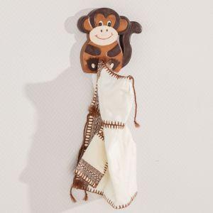Meble i zabawki dla dziecka. Wieszak pojedynczy Animals Monkey. Fot. Dekoria.pl