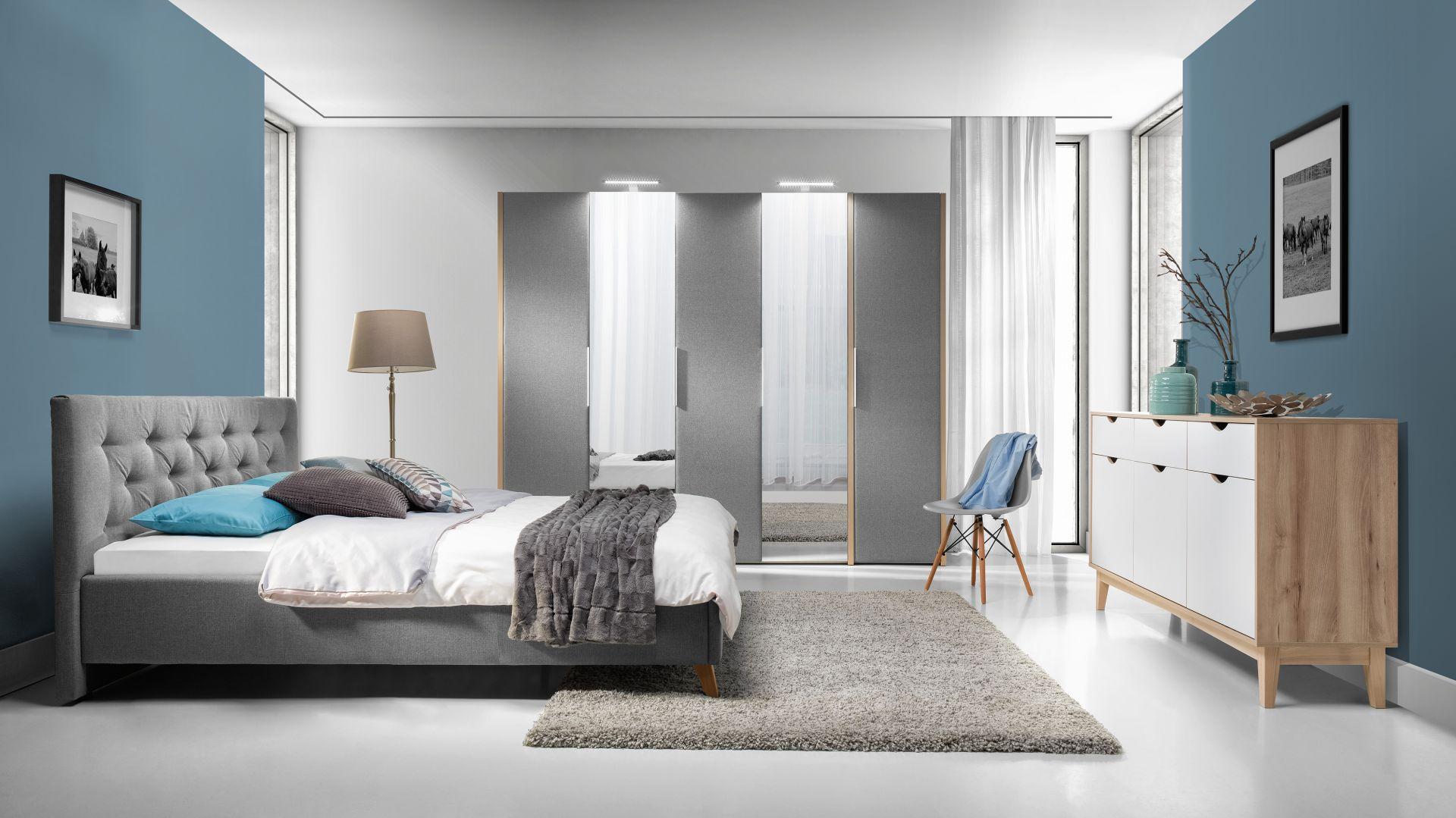 Szafa Solle i łóżko Glame.  Fot. Wajnert Meble
