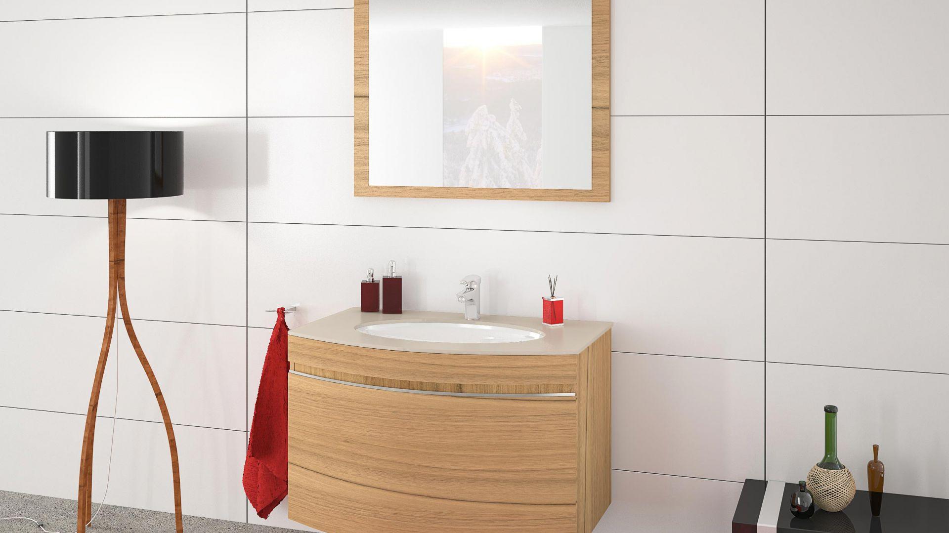 Aranżacja łazienki Umywalki W Geometrycznym Wydaniu