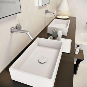Prostokątna umywalka. Fot. Makro Bathroom