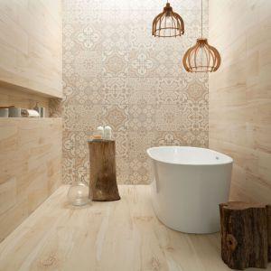Aranżacja łazienki. Kolekcja Wood marki Korzilius. Fot. Korzilius/Tubądzin