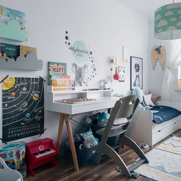 Pokój dziecka w skandynawskim stylu. Piękna aranżacja