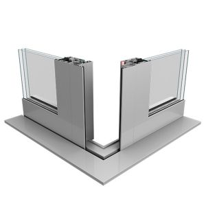 System narożny podnoszono-przesuwnych drzwi tarasowych Dako - aluminium DA-77 HST. Fot. Dako