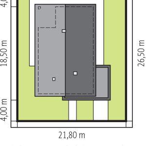Usytuowanie domu na działce. Projekt: Daniel 2 G1, Fot.  Pracownia Projektowa Archipelag