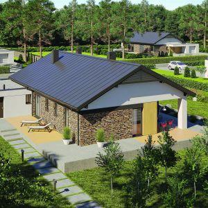 Daniel II G1 to dom parterowy, niepodpiwniczony, z garażem jednostanowiskowym, przeznaczony dla 3-4-osobowej rodziny. Projekt: Daniel 2 G1, Fot.  Pracownia Projektowa Archipelag