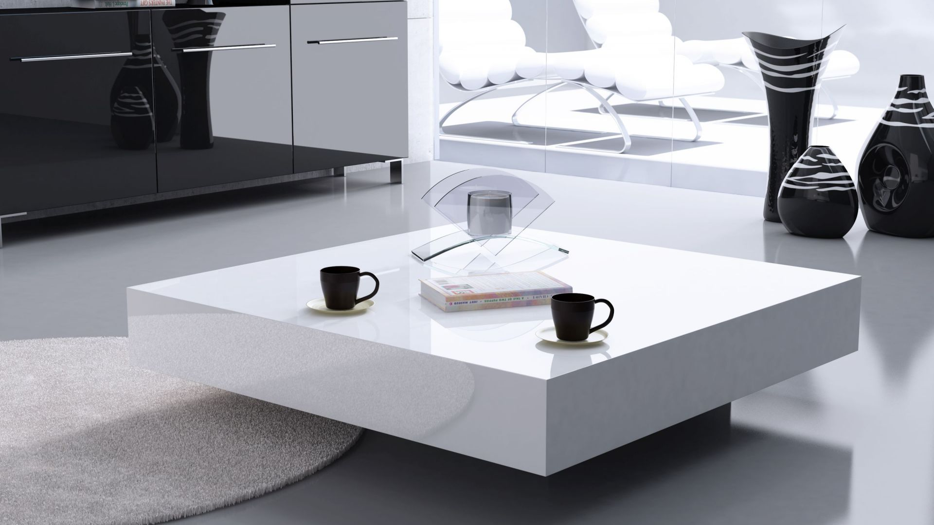 Stolik kawowy magic biały. Fot. Rosanero