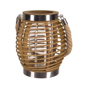 Piknik w ogrodzie - niezbędne akcesoria. Lampion drewniany 19 cm. Fot. BRW