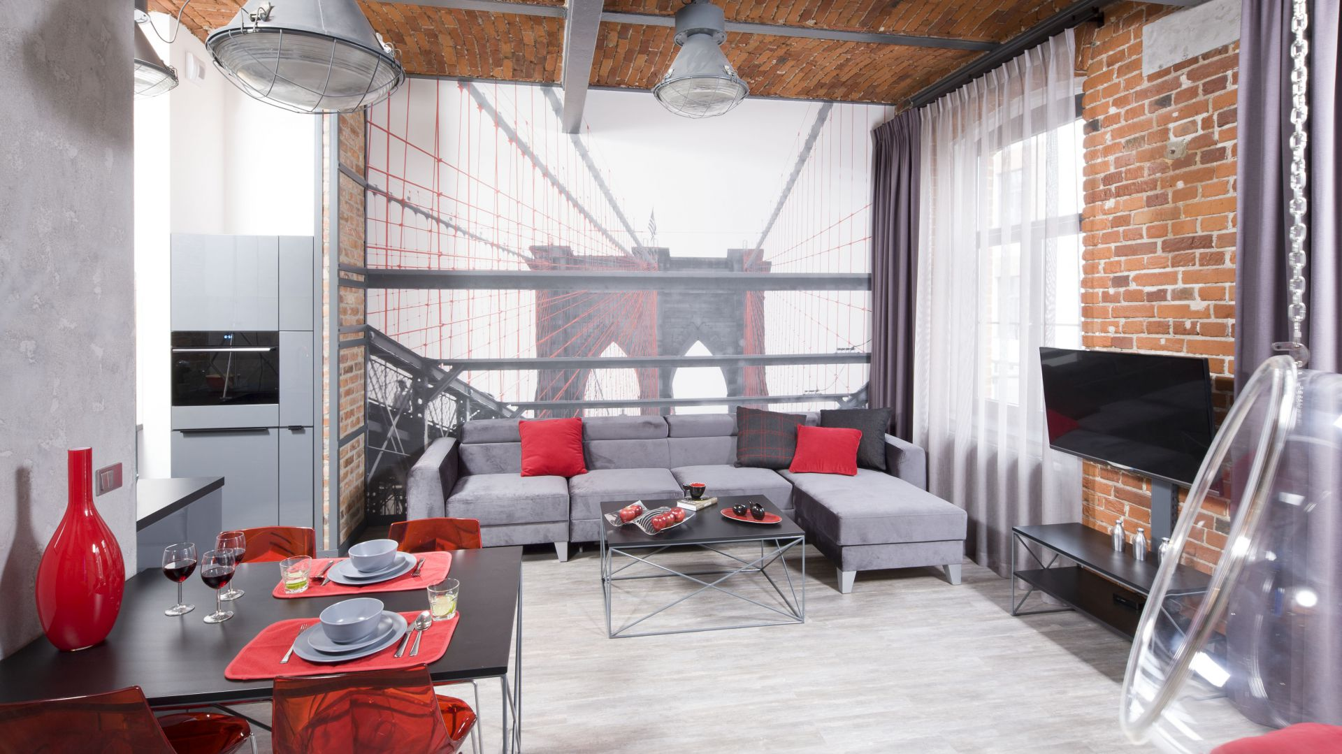 Pomysły na ściany w salonie. Projekt: Nowa Papiernia. Fot. Bartosz Jarosz