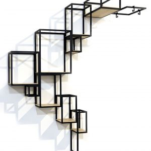 Półka ścienna JOINTED ma ciekawy, geometryczny kształt. Praktyczna i dekoracyjna. 6.650 zł. Fot. Serax