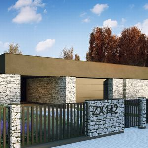 Domy w stylu minimalistycznym. Projekt: Zx142. Fot. Z500