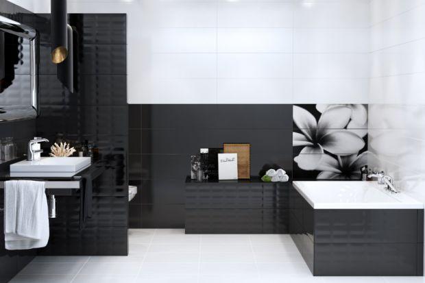 Czarno-białe płytki ceramiczne - 12 nowoczesnych kolekcji do łazienki