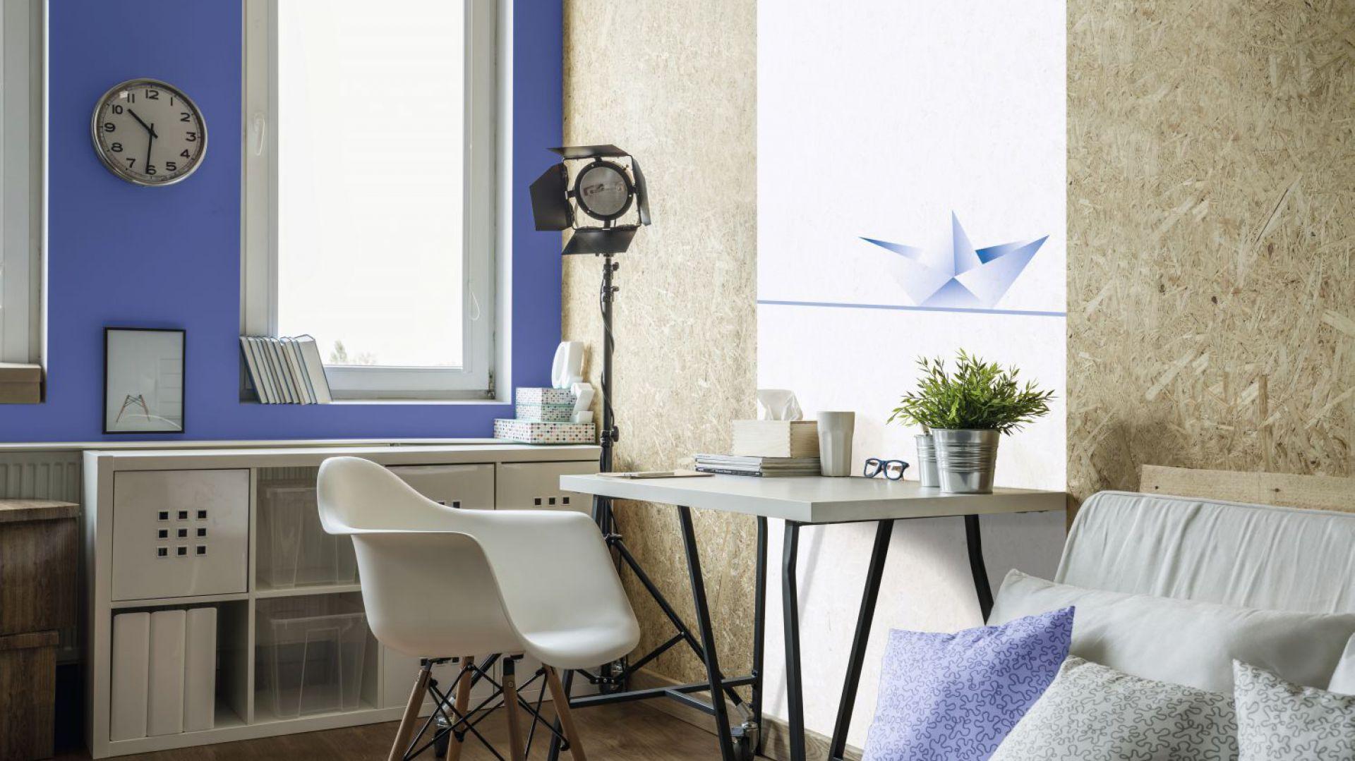 Domowe biuro w kolorach Marina Blue i Beckers Designer White. Fot. Beckers