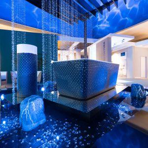 Kolekcja łazienkowa, w której wykorzystano kryształy Swarovskiego. Fot. Villeroy & Boch