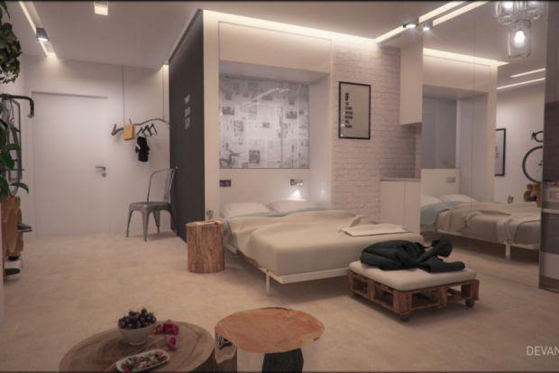Sypialnia w niewielkiej kawalerce