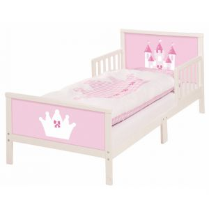 Różowe łóżeczko dziecięce Roba Castle 70x140 cm, cena: ok. 919zł. Fot. Bonami.pl