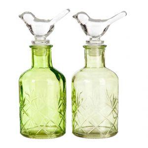 Komplet 2 butelek dekoracyjnych Bird, cena: ok. 55 zł. Fot. Westwing.pl